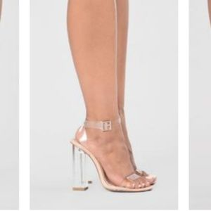 Fashion Nova Shoes - Lucite heeled sandals